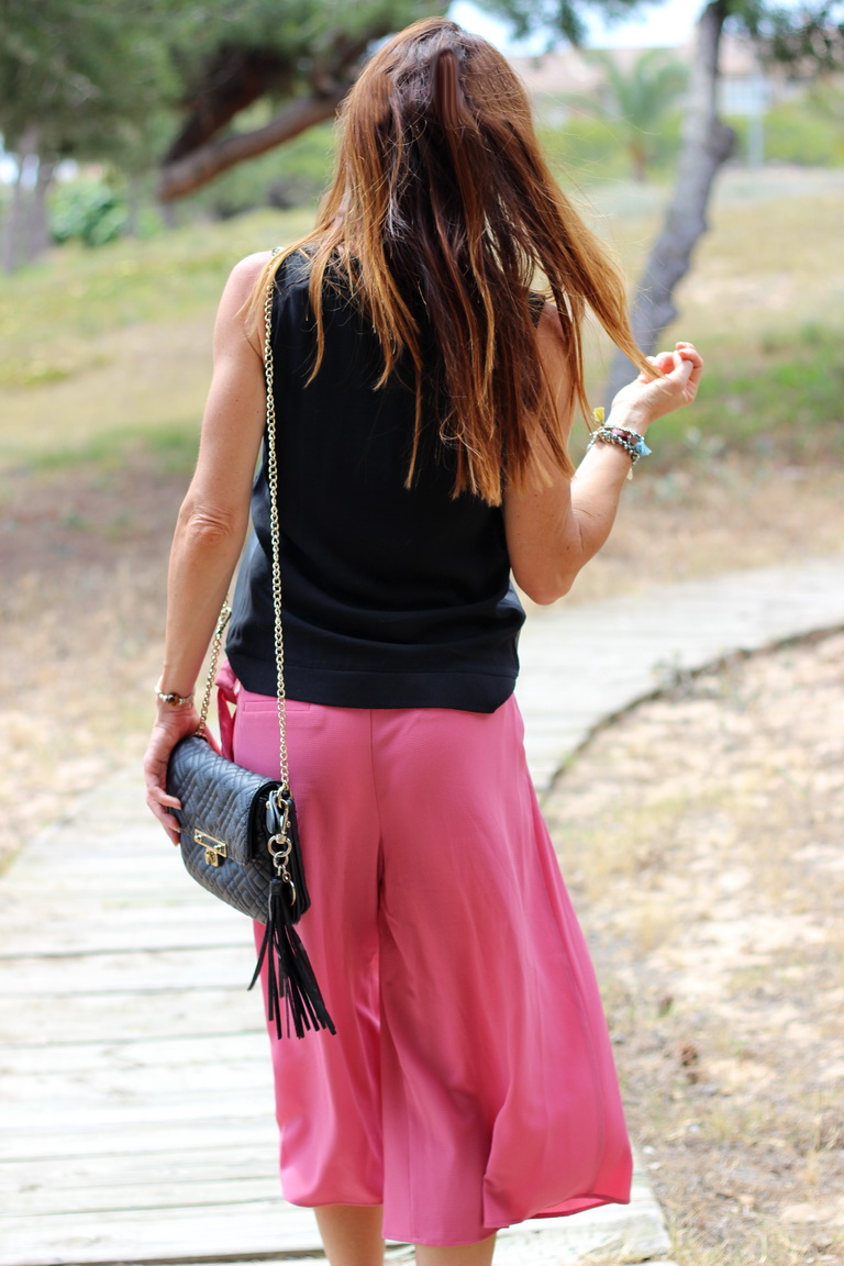 Streetstyle, fashion blogger, culottes, collar xl, Calzados Sandra , Optica Llamusi