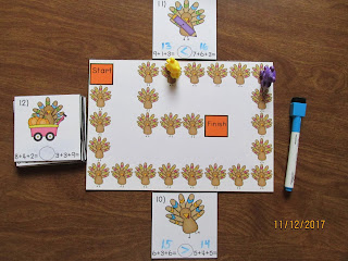 FREEBIE Turkeys Thanksgiving Equations Comparing Numbers Task Cards