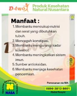 DTWO Kaya Serat Alami 20 Sachet