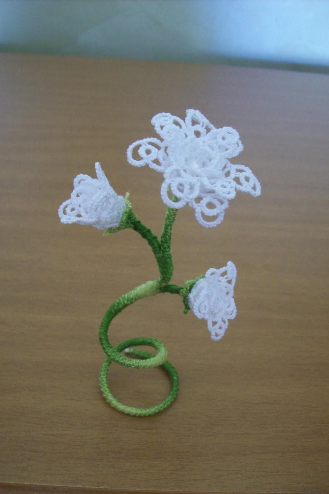 Fiori 3ds.Daniela Mendola 3d Tatting Flowers