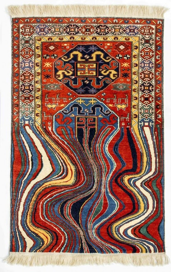 02-Scrambled-Faig-Ahmed-Cartoon-Carpets-www-designstack-co