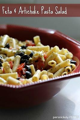 Persnickety Plates: Feta Artichoke Pasta Salad
