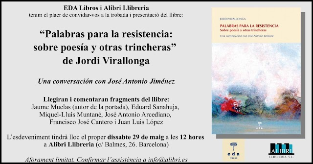 """""""Palabras para la resistencia: sobre poesía y otras trincheras"""" de Jordi Virallonga"""