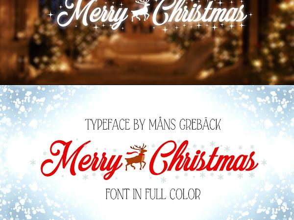 Merry Christmas Decorative Font