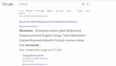 Movierulz – Download Bollywood, Hollywood Hindi Dubbed Movie