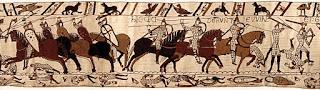 Ausschnitt des Wandteppichs von Bayeux, um 1082