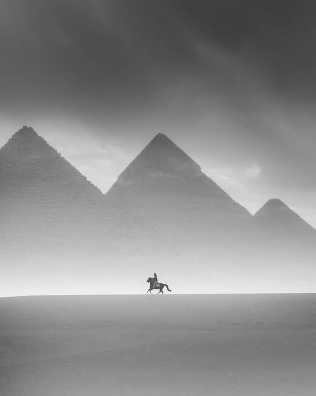 Photographer Karim Amr  and  The Great Pyramids of Egypt