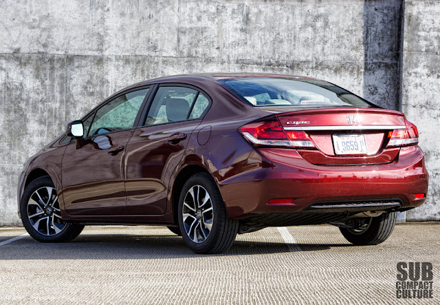 2013 Honda Civic EX rear