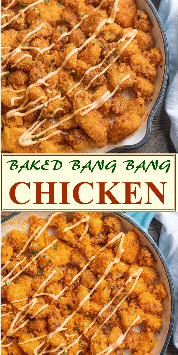 BAKED BANG BANG CHICKEN #dinnerrecipes
