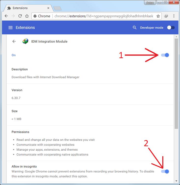 اضافة IDM إلي جميع المتصفحات حل مشكلة عدم ظهور ايقونة التحميل في اليوتيوب لجميع المتصفحات