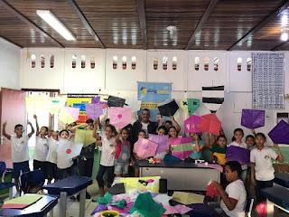 Prefeitura de Miracatu realiza oficina de pipas no E.M. Jardim Yolanda