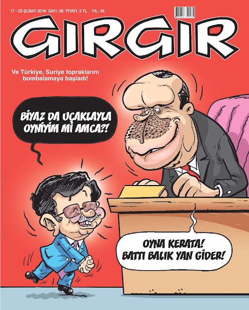 Gırgır Dergisi - 17-23 Şubat 2016 Kapak Karikatürü