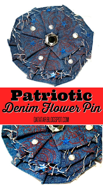 Patriotic Denim Flower Pin Tutorial by Dana Tatar