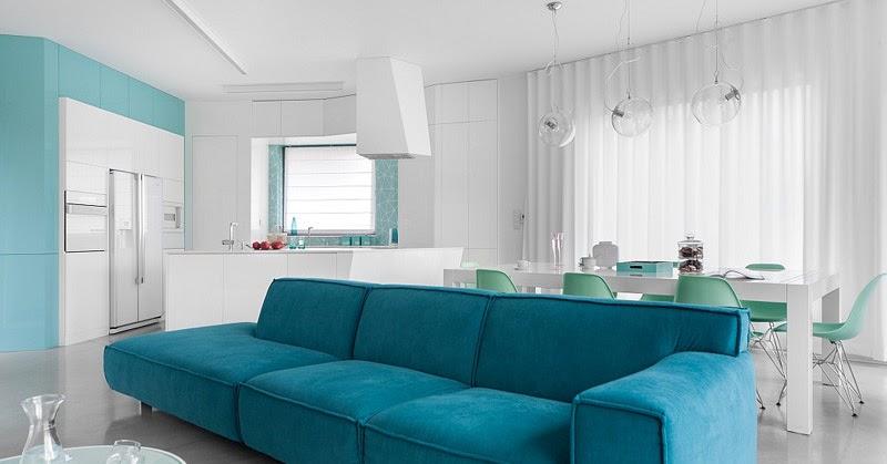 Minimalist n alb i albastru jurnal de design interior for Al saffar interior decoration l l c