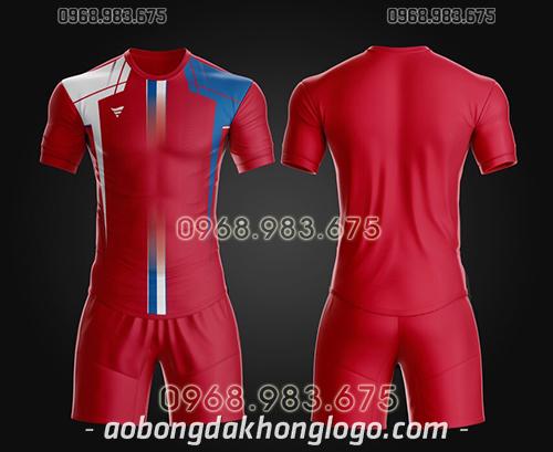 Áo bóng đá ko logo TA Thd màu đỏ