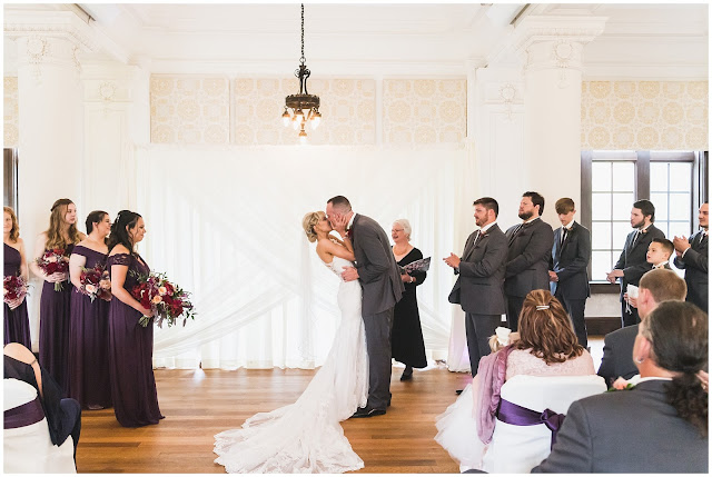 photo of wedding kiss