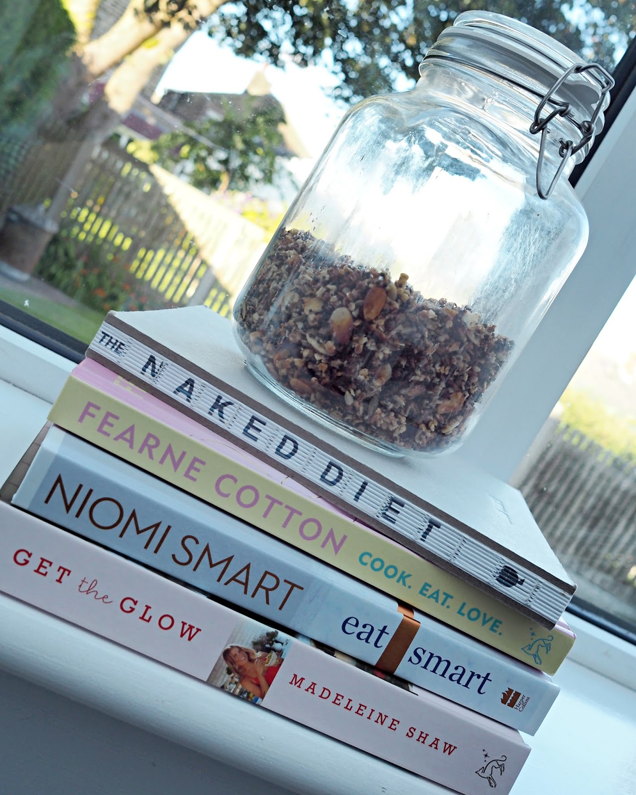 recipe books and granola