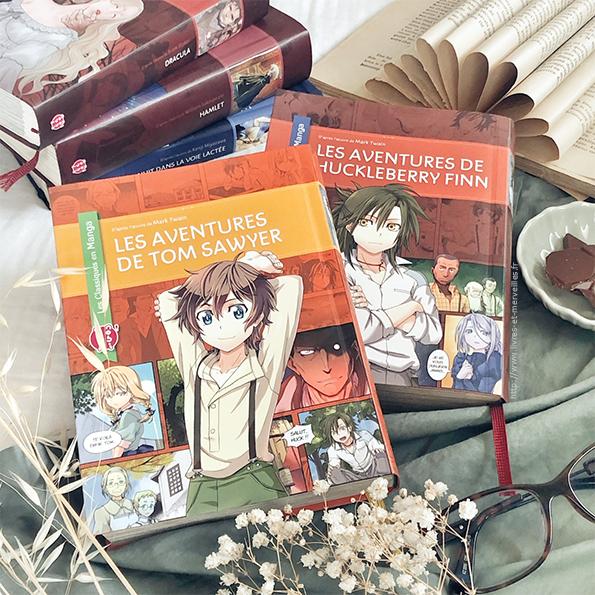 Manga jeunesse : Les aventure de Tom Sawyer et de Huckleberry Finn