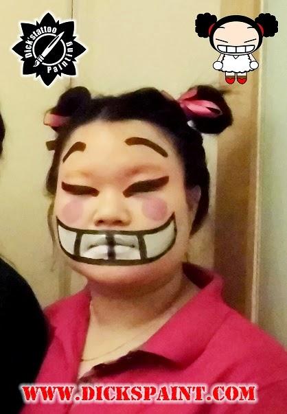 face painting jakarta cartoon pucca