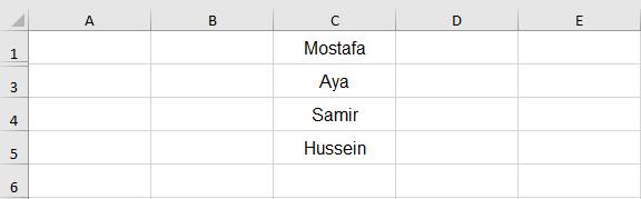 نسخ ولصق الخلايا الظاهرة فقط في Excel