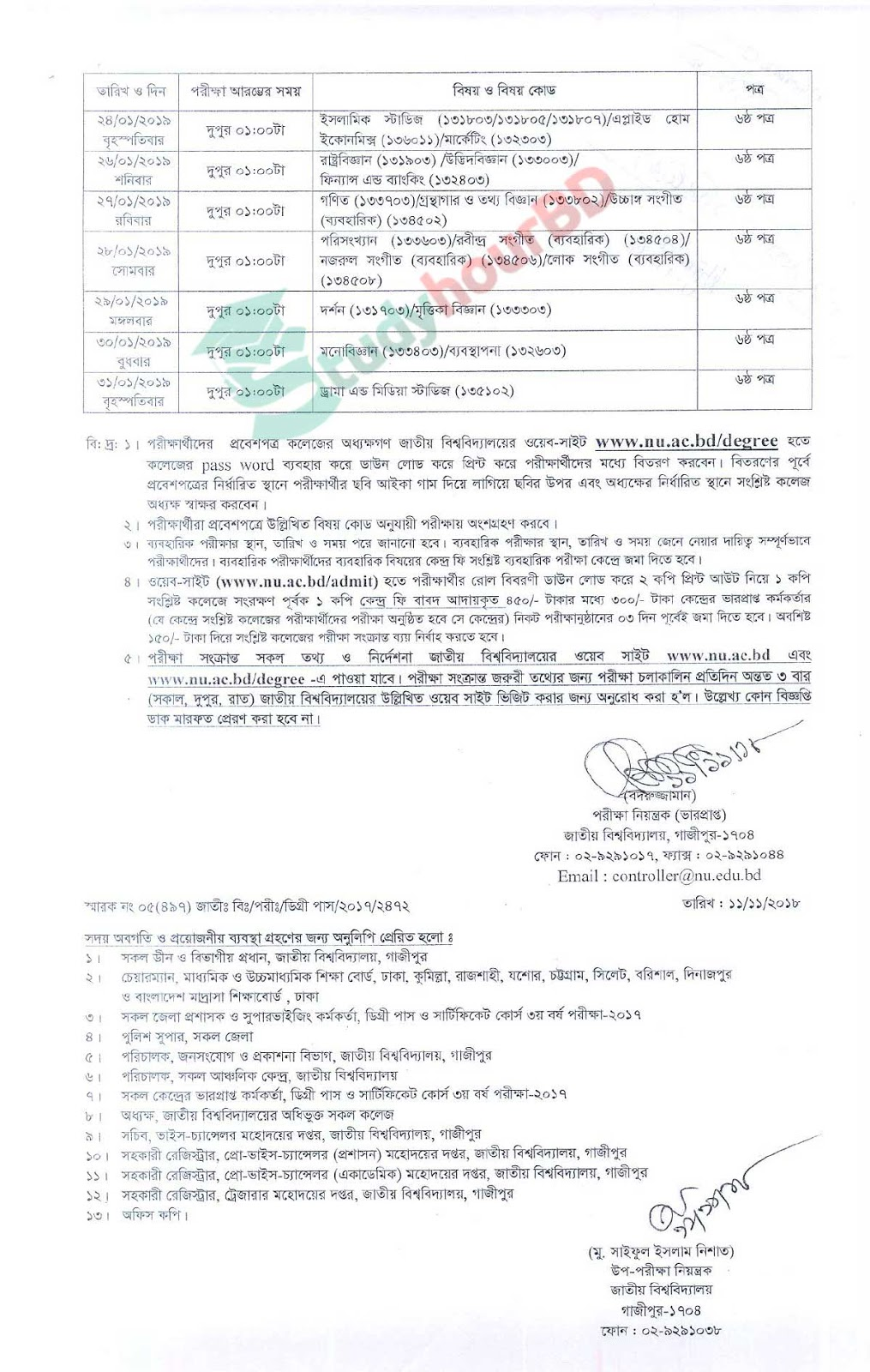 Degree 3rd year changed routine 2018 part2
