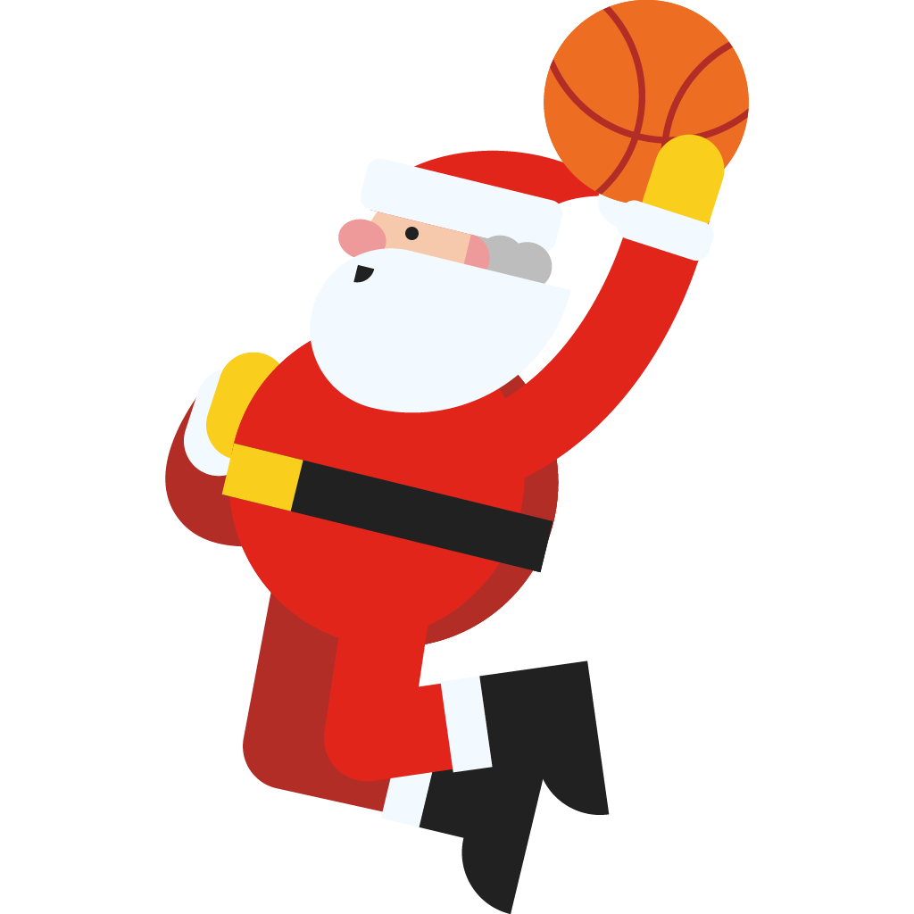 'Santa Dunk' is one of the stickers you could use
