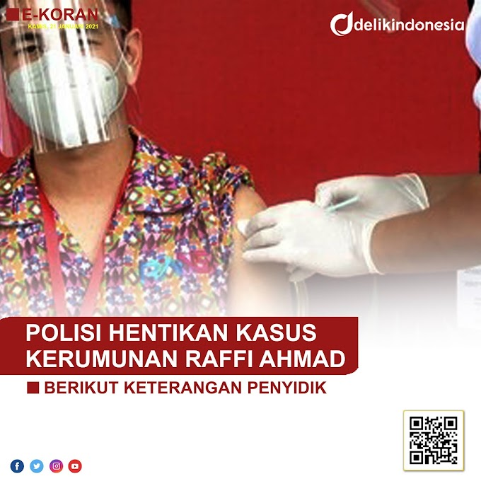 Polisi Hentikan Kasus Kerumunan Raffi Ahmad, Berikut Keterangan Penyidik