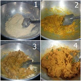 कद्दू का बेसन (pumpkin besan)
