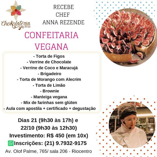Aula de Confeitaria Vegana - Outubro 2019