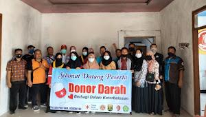 Karangtaruna desa cijengkol bekerjasama dengan PMI adakan donor darah