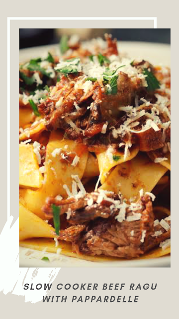 slow cooker beef ragu with pappardelle