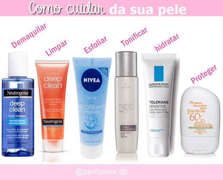 cuidar da pele em 6 passos simples @perfumes.dp