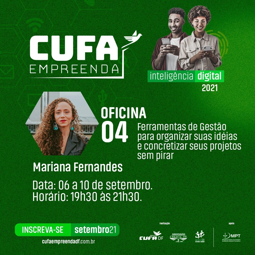 CUFA Empreenda abre setembro com novas capacitações