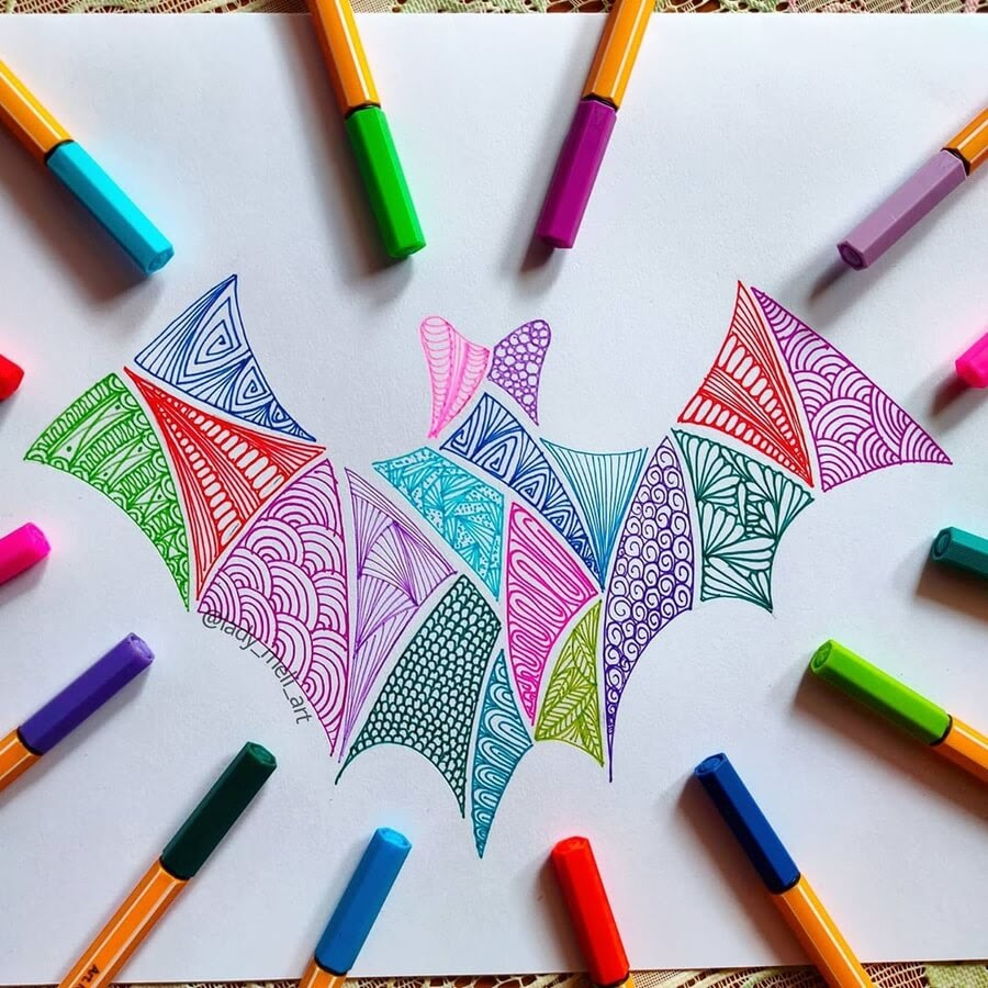 06-Flying-bat-lady-meli-art-www-designstack-co