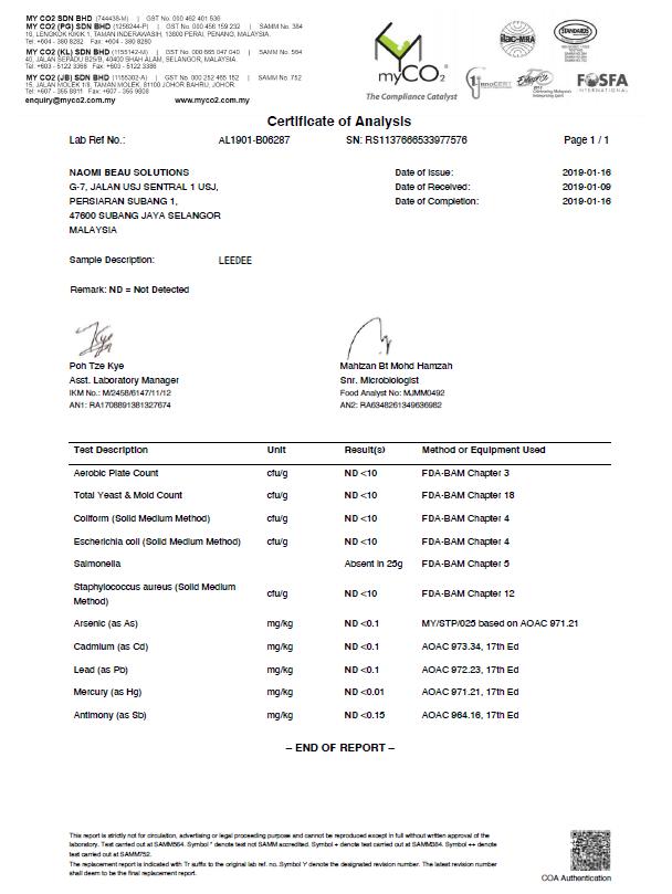 Laporan kelulusan Ujian Makmal