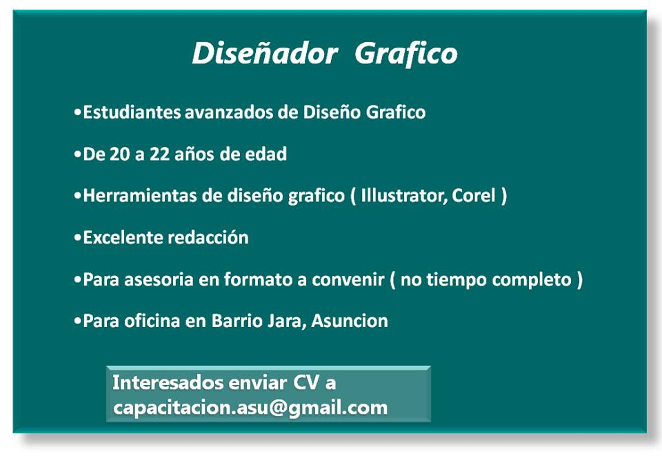 Ofertas de empleo dise o grafico for Oficinas para buscar trabajo