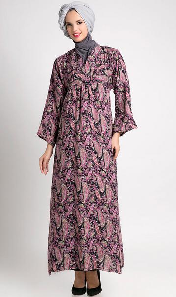 Gambar Baju Batik Muslim Pesta