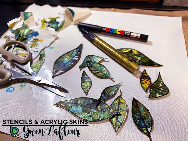 Stencils & Acrylic Skins Tutorial - Step 6 - Gwen Lafleur