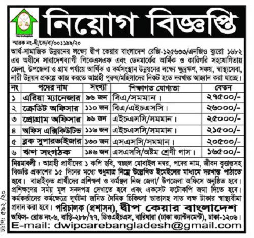 Dip Care Bangladesh Job Circular 2020