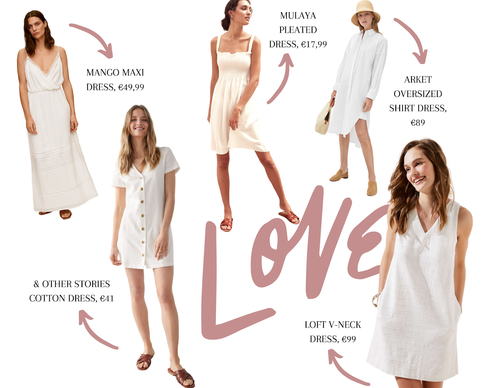 best white summer dresses under €100