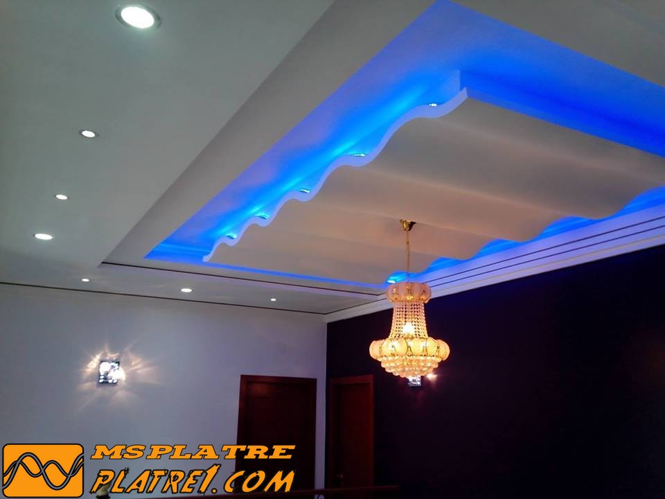 Best model faux plafond couloir contemporary amazing for Model de platre plafond