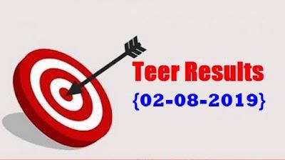 Teer Result 2 August 2019