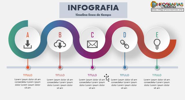 Plantilla de línea de tiempo para Infografia 09