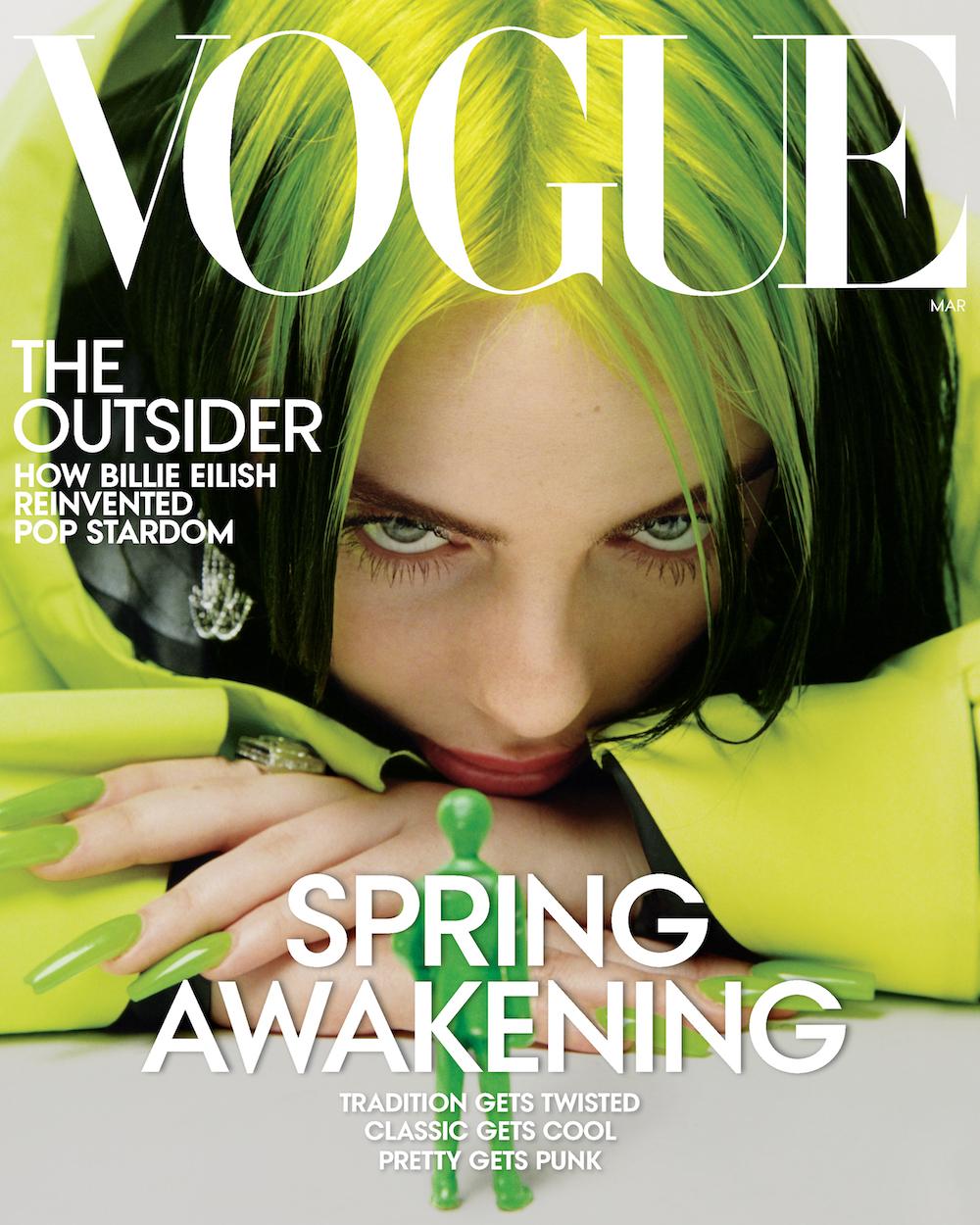 Billie Eilish looks gorgeous for VOGUE Magazine's March issue.