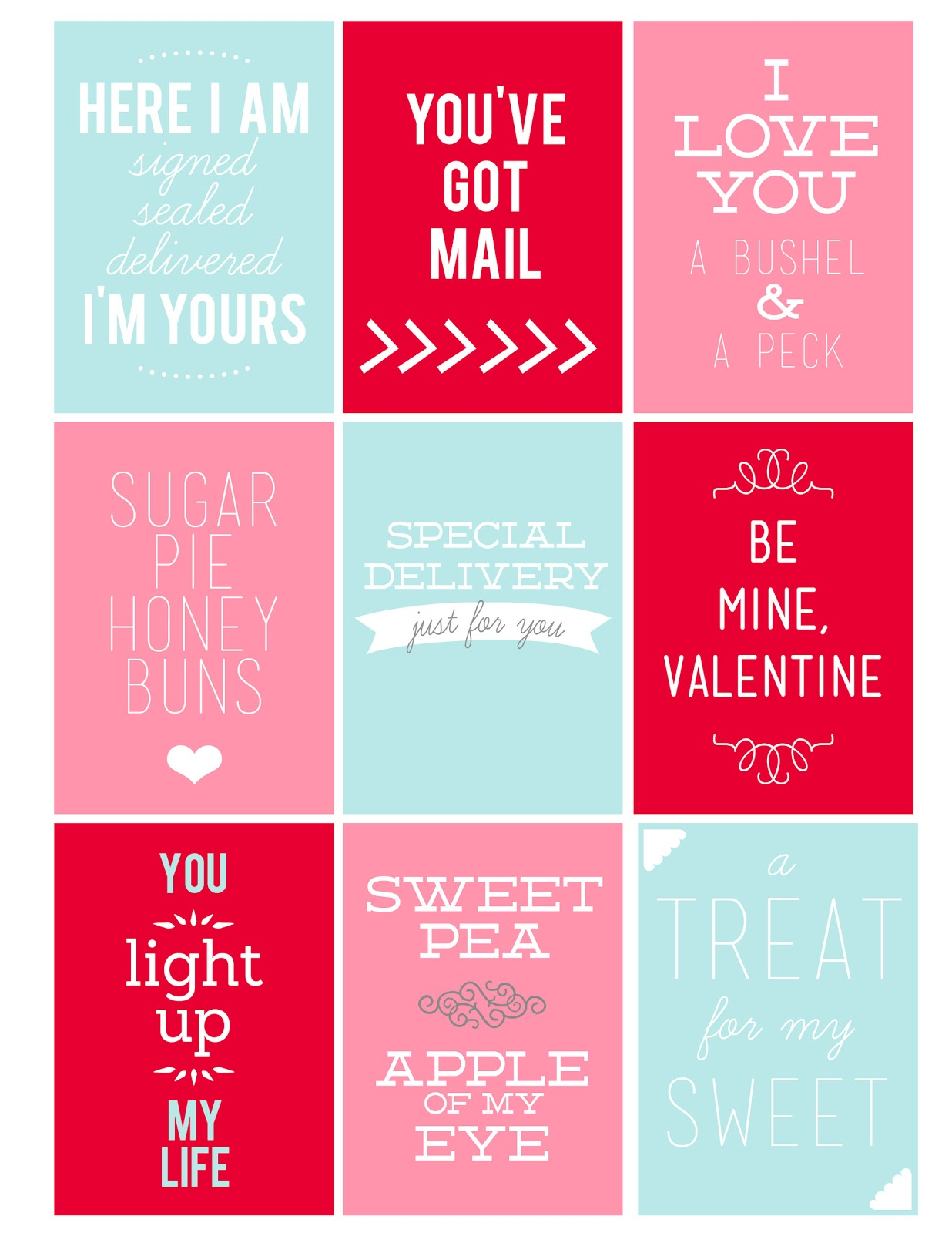 Printable Valentine S Day Tags