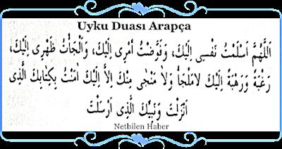 Uyku Duası Arapça Okunuşu ve Manası