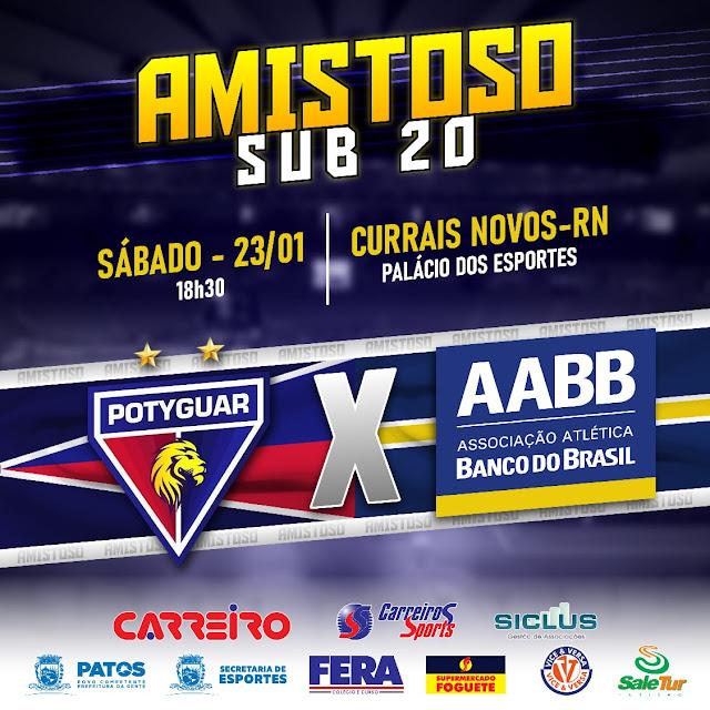 Equipe de Futsal Sub-20 da AABB – Patos-PB, enfrenta o Potiguar do RN