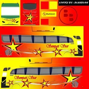 livery bussid hd sumatera sempati star 1