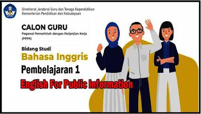 Pembelajaran 1: English For Public Information