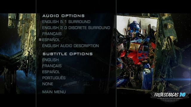 Transformers 3 DVDR NTSC Español Latino